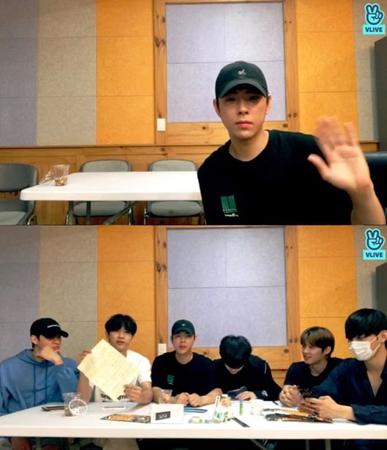 韓国ボーイズグループ「HALO」メンバーのディノが、入隊を前にファンに向けて最後のあいさつをした。(提供:OSEN)