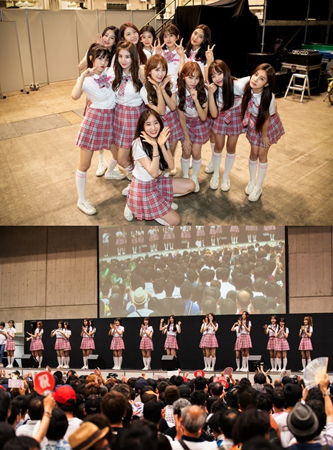 「PRODUCE 48」ファイナリスト20人、「AKB48」の握手会にサプライズ登場…日本ファンに初お披露目(提供:news1)
