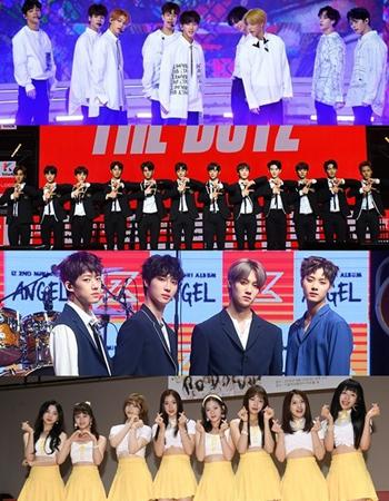 韓国ボーイズグループ「Stray Kids」、「THE BOYZ」、「IZ(アイズ)」、ガールズグループ「Nature」が2018 SORIBADA BEST K-MUSIC AWARDS」に出席する。(提供:news1)