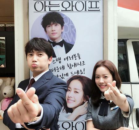 韓国ガールズグループ「Girl's Day」メンバーのヘリが、俳優チソンのためにコーヒーのケータリングカーを贈った。(提供:OSEN)