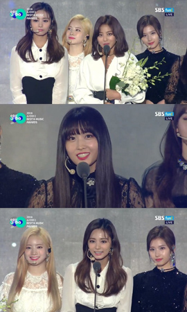 「TWICE」、「2018 SORIBADA BEST K-MUSIC AWARDS」で音源大賞を受賞(提供:news1)