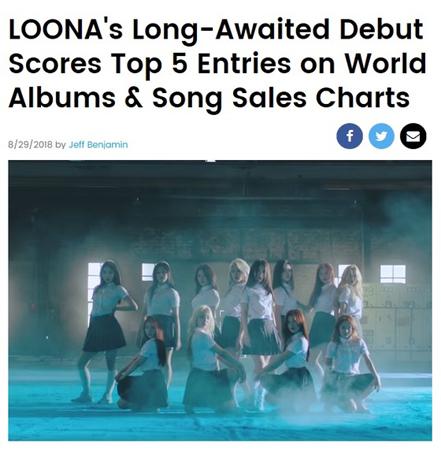 米ビルボード、「今月の少女(LOONA)」を集中照明「大衆に大きなインパクトを与える」(提供:news1)