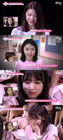 韓国Mnet「PRODUCE 48」に出演の練習生たちが、100日前の自分の姿に涙した。(提供:news1)