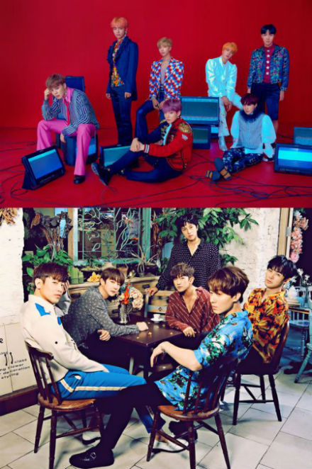 SBS「人気歌謡」で、「防弾少年団」と「SHINHWA」が同時にカムバックし、新旧レジェンドが激突する。(提供:OSEN)