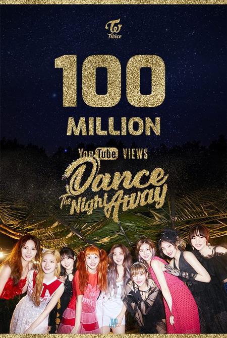 【公式】「TWICE」、楽曲「Dance The Night Away」MVが1億ビュー突破=9連続の大記録