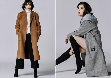 """歌手ヒョナ、""""秋の女神""""に変身…シックなコートファッションに視線釘付け(提供:news1)"""