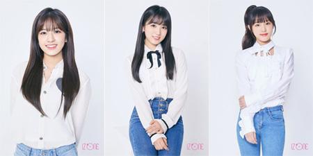 「IZONE」、アン・ユジン&矢吹奈子&チェ・イェナの公式プロフィール写真を公開!