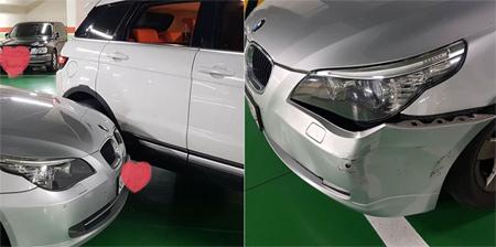 女優チョン・ガウン、駐車場で接触事故…SNSに車両の写真を公開(提供:news1)