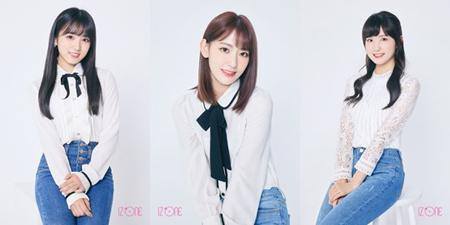 日韓合同ユニット「IZONE」のメンバーに選ばれた宮脇咲良(HKT48)、矢吹奈子(HKT48)、本田仁美(AKB48)が、「IZONE」の活動期間は48グループの活動を休止することになった。(提供:OSEN)