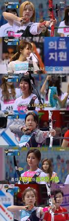 韓国ガールズグループ「Red Velvet」と「TWICE」がアーチェリーで対決した。(提供:news1)