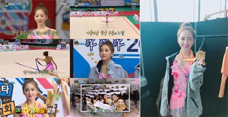 <ア陸大>「ELRIS」ユギョン、リズム体操(新体操)優勝…韓国舞踊専攻+3週間・毎日5~6時間練習の賜物(提供:OSEN)
