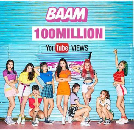 「MOMOLAND」、「BAAM」MVの再生回数が1億回突破! (提供:OSEN)