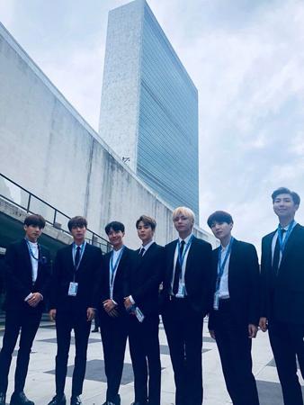 韓国ボーイズグループ「防弾少年団」リーダーのRMが、国連で演説した時のことを語った。(提供:OSEN)