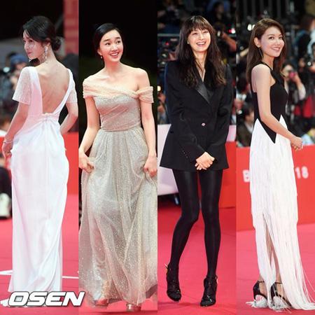 釜山国際映画祭開幕式レッドカーペットを彩った女優陣