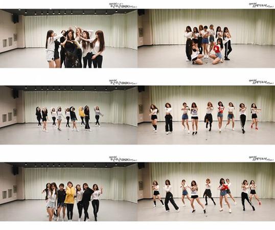 韓国ガールズグループ「fromis_9」が、9人全員で見せる特別な振り付け映像を公開した。(提供:OSEN)