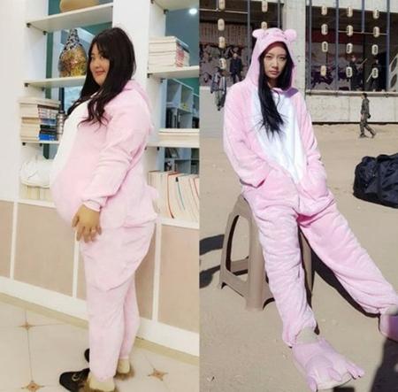 韓国タレントのクララが100キロの巨体に変身した。(写真提供:OSEN)
