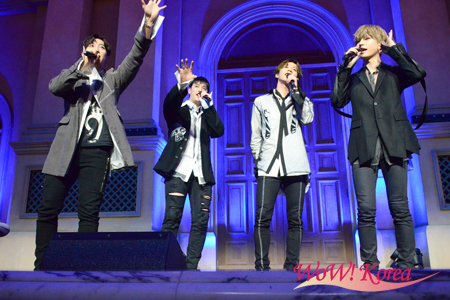 「U-KISS」左からフン、イライ、ジュン、キソプ