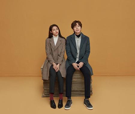 韓国ガールズグループ「AOA」メンバーのソリョンが、俳優パク・ヘジンとの2ショットを公開した。(提供:OSEN)