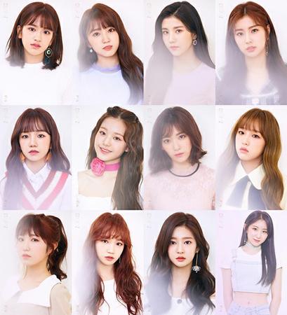 日韓プロジェクトガールズグループ「IZ*ONE」が、夢幻的な魅力を放った。(写真提供:OSEN)