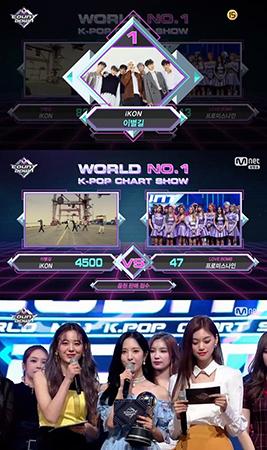 「M COUNTDOWN」の1位にボーイズグループiKONが選ばれた。(提供:OSEN)