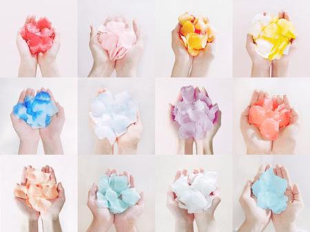 """""""デビュー間近""""「IZ*ONE」、12色のバラの花びらのイメージ写真を公開! (提供:OSEN)"""