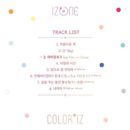 日韓ガールズグループ「IZ*ONE」がデビューアルバムのトラックリストを公開した。(提供:OSEN)