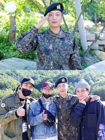 韓国ボーイズグループ「Highlight」メンバーのユン・ドゥジュンが、江原道(カンウォンド)インジェに位置する第12師団憲兵隊で軍生活をおこなう。(提供:OSEN)