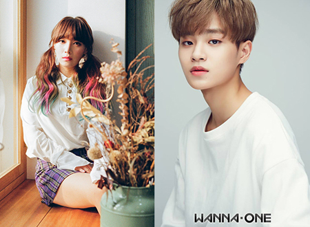 "「Wanna One」イ・デフィ、事務所""先輩""カン・ミニへ楽曲プレゼント=26日発表へ(画像:OSEN)"