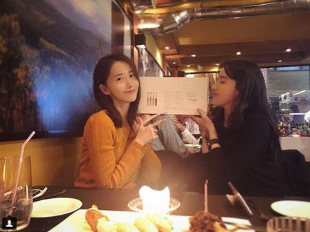 女優パク・ファニ、誕生日祝いに来たユナ(少女時代)に感動(画像:OSEN)