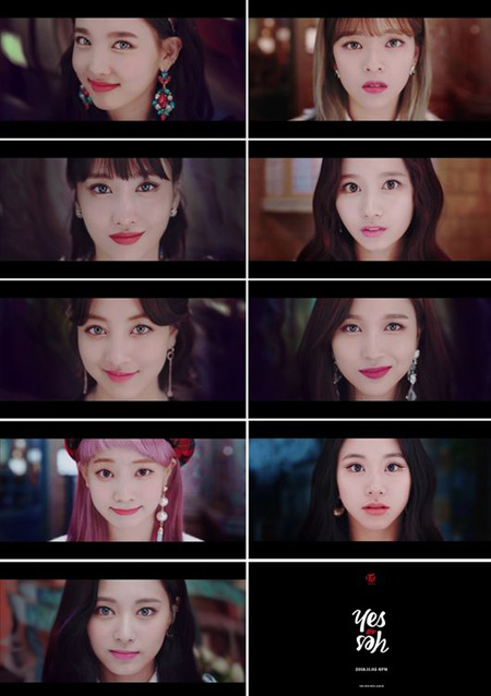 韓国ガールズグループ「TWICE」が新曲「YES or YES」のミュージックビデオ(MV)ティザー映像を公開した。(提供:OSEN)