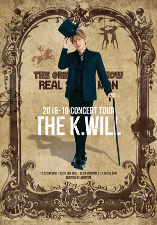韓国歌手K.Willが12月にコンサートを開催。全国7つの都市を巡り、ファンとの交流を深める。(写真提供:OSEN)
