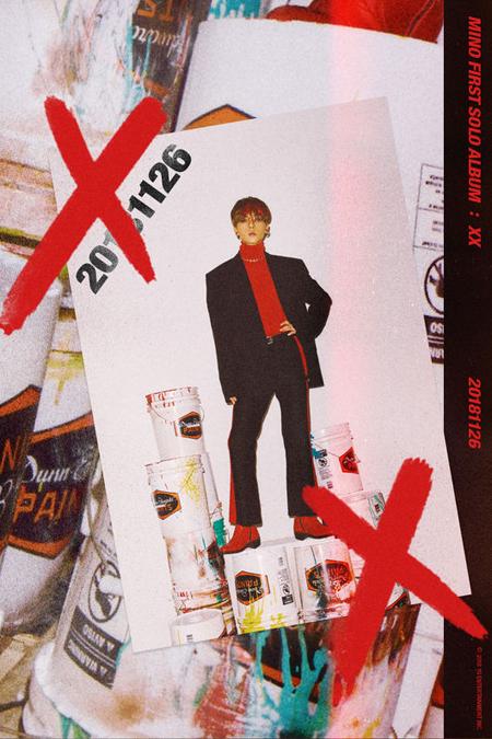"""MINO(WINNER)、初ソロアルバム「XX」の2次ティザーは""""強烈レッド""""(画像:OSEN)"""