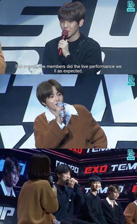 韓国ボーイズグループ「EXO」メンバーのSUHOが、D.O.について暴露して笑いを誘った。(提供:news1)
