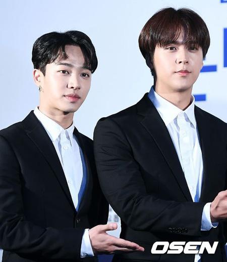 韓国アイドルグループ「Highlight」のイ・ギグァンとソン・ドンウンが義務警察の選抜試験で不合格となり、現役入隊を待っていることがわかった。(提供:OSEN)