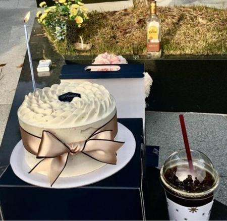 わいせつ疑惑の中自殺した俳優チョ・ミンギの妻、夫の誕生日ケーキをSNSに掲載し波紋(提供:news1)