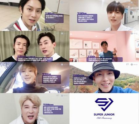 韓国ボーイズグループ「SUPER JUNIOR」が、デビュー13周年を祝った。(写真提供:OSEN)