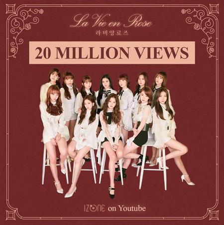 """「IZ*ONE」、「La Vie en Rose」MV再生回数2000万回突破! """"グローバルスーパールーキー""""(提供:OSEN)"""