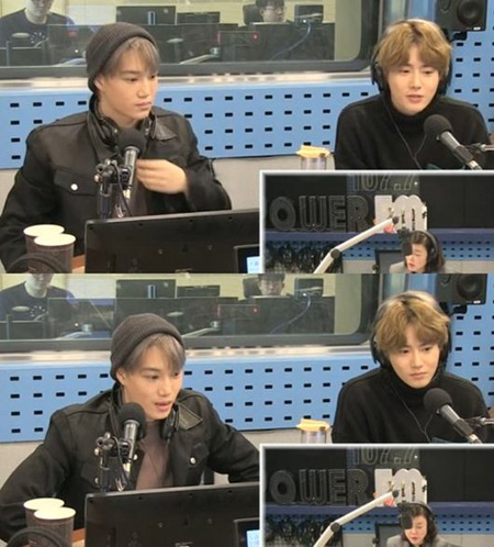 韓国アイドルグループ「EXO」SUHO(スホ)とKAI(カイ)がラジオ番組に出演し、「Tempo」を初めて聞いたときの心境を明かした。(提供:OSEN)