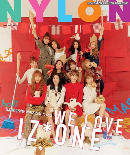 「IZ*ONE」、初の団体画報公開! ファッション誌の表紙を飾る(提供:news1)