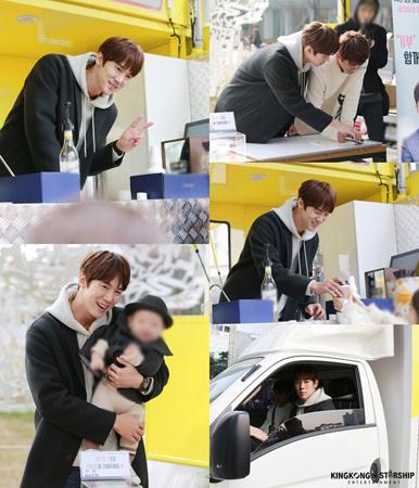 韓国俳優ユ・ヨンソク(34)が、親友で俳優のソン・ホジュン(34)と共におこなってきた募金イベントを大盛況で終えた。(提供:OSEN)