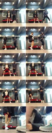 韓国歌手ヒョナとイドン(元PENTAGON)カップルが甘いダンスデートを楽しんだ。(写真提供:OSEN)