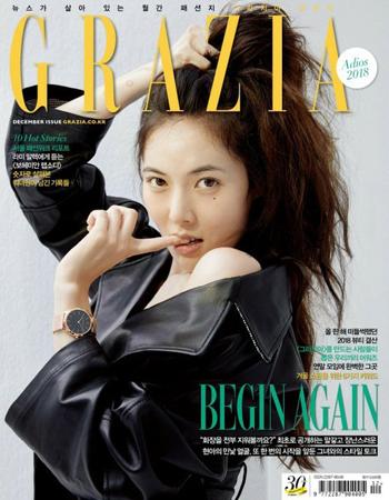 """韓国歌手ヒョナが、ファッションマガジン「GRAZIA」で""""100%すっぴん""""のグラビアを披露し、話題になっている。(写真提供:OSEN)"""