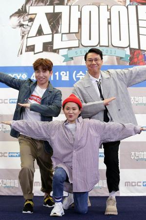 韓国タレントのイ・サンミン、キム・シニョン、ユ・セユンがMBCエブリワンのバラエティ番組「週刊アイドル」のMCを降板することになった。(写真提供:OSEN)