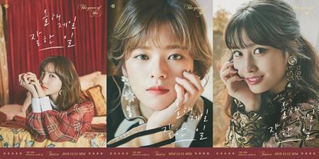 韓国ガールズグループ「TWICE」が3rdスペシャルアルバムタイトル曲「今年一番よくやったこと」で初めてR&Bに挑戦する。同曲はJYPの首長パク・チニョンとパク・ジミンが作詞・作曲を担当した。(提供:OSEN)