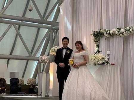 韓国お笑い芸人のイ・スジの結婚式現場が公開された。(写真提供:OSEN)