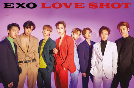 「EXO」の楽曲「LOVE SHOT」、iTunes全世界60地域で1位に(画像:OSEN)
