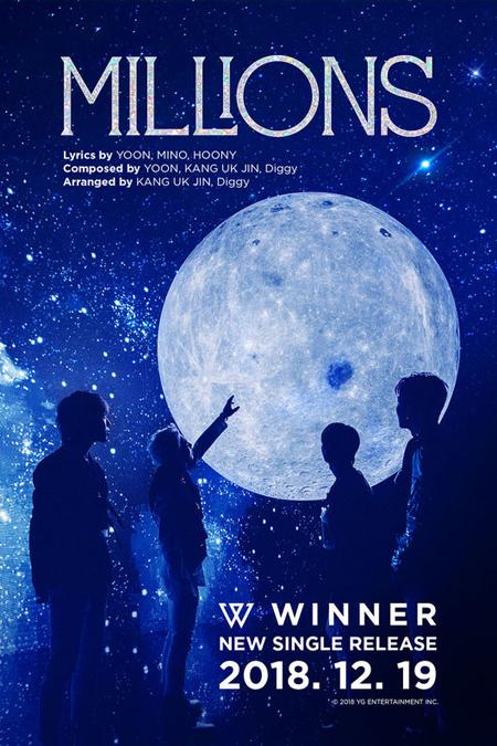 「WINNER」、新曲タイトルは「MILLIONS」=メンバーが作詩・作曲に参加(画像:OSEN)