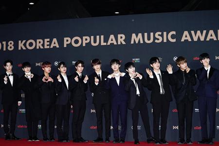 「Wanna One」、「2018 KPMA」4冠達成…「恩恵を施し感謝して過ごしたい」(提供:OSEN)