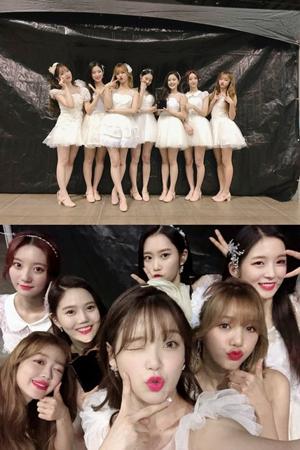 """""""コンセプトの妖精""""として名高い、韓国ガールズグループ「OH MY GIRL」が授賞式で本賞受賞の名誉に輝いた。(写真提供:OSEN)"""
