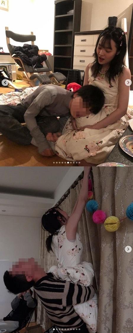 ソルリ、ホームパーティーでの果敢なスキンシップ写真が話題(提供:news1)
